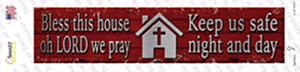 Bless This House Wholesale Novelty Narrow Sticker Decal