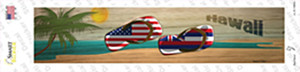 Hawaii and US Flag Wholesale Novelty Narrow Sticker Decal