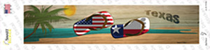 Texas and US Flag Wholesale Novelty Narrow Sticker Decal