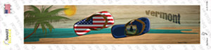 Vermont and US Flag Wholesale Novelty Narrow Sticker Decal