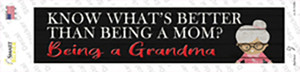 Better Than Mom Is Being a Grandma Wholesale Novelty Narrow Sticker Decal