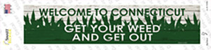 Connecticut Weed Wholesale Novelty Narrow Sticker Decal