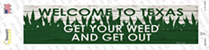 Texas Weed Wholesale Novelty Narrow Sticker Decal