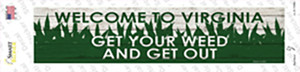 Virginia Weed Wholesale Novelty Narrow Sticker Decal