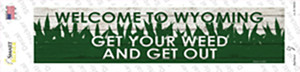 Wyoming Weed Wholesale Novelty Narrow Sticker Decal