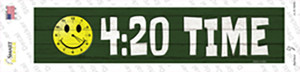 420 Time Wholesale Novelty Narrow Sticker Decal