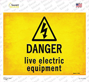 Danger Live Electric Equipment Wholesale Novelty Rectangle Sticker Decal