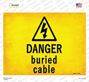 Danger Buried Cable Wholesale Novelty Rectangle Sticker Decal