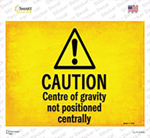 Caution Wholesale Novelty Rectangle Sticker Decal