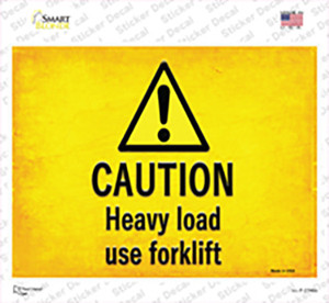 Caution Heavy Load Use Forklift Wholesale Novelty Rectangle Sticker Decal