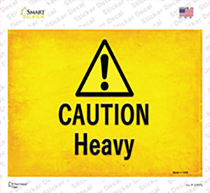 Caution Heavy Wholesale Novelty Rectangle Sticker Decal