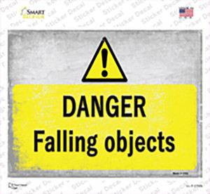 Danger Falling Objects Wholesale Novelty Rectangle Sticker Decal