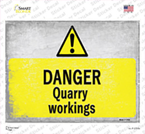 Danger Quarry Workings Wholesale Novelty Rectangle Sticker Decal