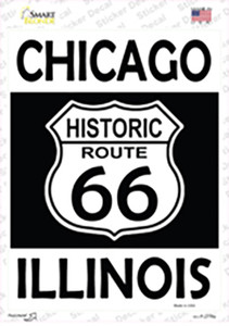 Chicago Illinois Historic Route 66 Wholesale Novelty Rectangle Sticker Decal