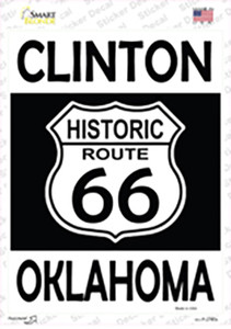Clinton Oklahoma Historic Route 66 Wholesale Novelty Rectangle Sticker Decal
