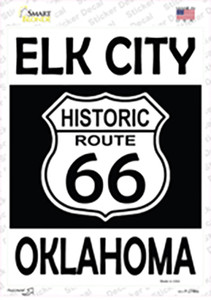 Elk City Oklahoma Historic Route 66 Wholesale Novelty Rectangle Sticker Decal
