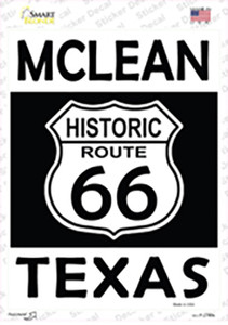 McLean Texas Historic Route 66 Wholesale Novelty Rectangle Sticker Decal