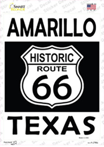 Amarillo Texas Historic Route 66 Wholesale Novelty Rectangle Sticker Decal