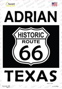 Adrian Texas Historic Route 66 Wholesale Novelty Rectangle Sticker Decal