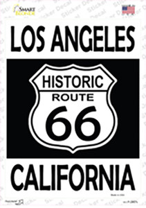 Los Angeles California Historic Route 66 Wholesale Novelty Rectangle Sticker Decal