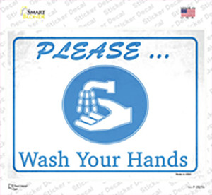 Please Wash Your Hands Wholesale Novelty Rectangle Sticker Decal