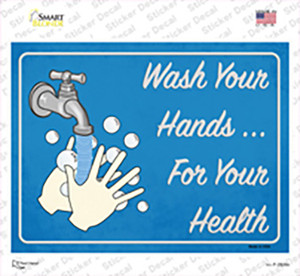 Wash Your Hands For Your Health Wholesale Novelty Rectangle Sticker Decal