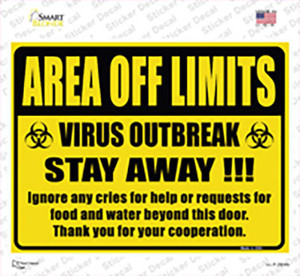 Area Off Limits Wholesale Novelty Rectangle Sticker Decal