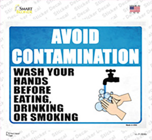 Avoid Contamination Wholesale Novelty Rectangle Sticker Decal