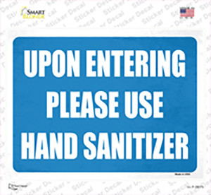 Please Use Hand Sanitizer Wholesale Novelty Rectangle Sticker Decal