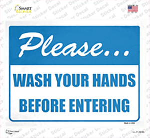 Please Wash Hands Wholesale Novelty Rectangle Sticker Decal