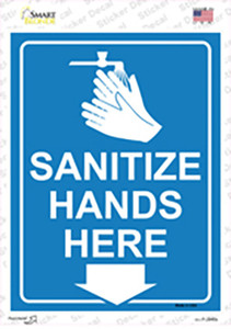 Sanitize Hands Here Wholesale Novelty Rectangle Sticker Decal