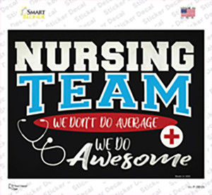 Awesome Nursing Team Wholesale Novelty Rectangle Sticker Decal