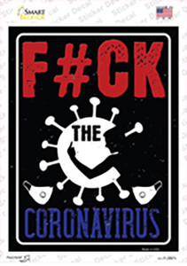 F The Virus Wholesale Novelty Rectangle Sticker Decal