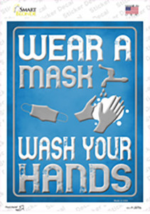 Wear A Mask, Wash Your Hands Wholesale Novelty Rectangle Sticker Decal