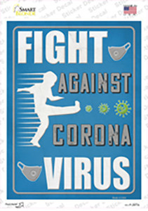 Fight Against The Virus Wholesale Novelty Rectangle Sticker Decal