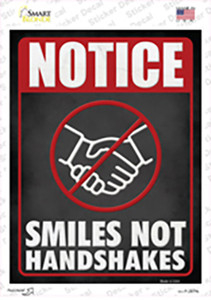 Smiles Not Shakes Wholesale Novelty Rectangle Sticker Decal