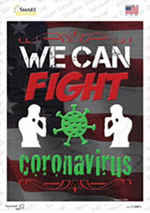 We Can Fight Virus Wholesale Novelty Rectangle Sticker Decal