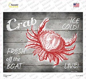Crab Fresh off the Boat Wholesale Novelty Rectangle Sticker Decal