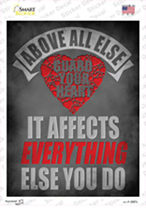 Guard Your Heart Wholesale Novelty Rectangle Sticker Decal
