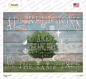 All Religions Wholesale Novelty Rectangle Sticker Decal