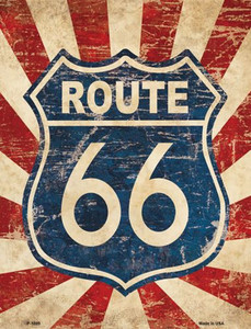 Vintage Route 66 Wholesale Metal Novelty Parking Sign