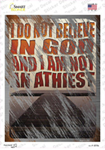 I Do Not Believe In God Wholesale Novelty Rectangle Sticker Decal