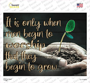 Begin To Grow Wholesale Novelty Rectangle Sticker Decal