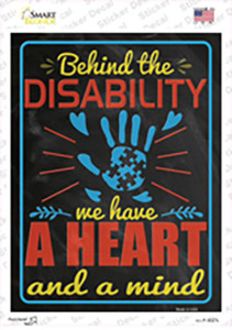 Behind The Disability Wholesale Novelty Rectangle Sticker Decal