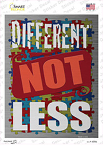Different Not Less Wholesale Novelty Rectangle Sticker Decal