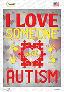 I Love Someone With Autism Wholesale Novelty Rectangle Sticker Decal