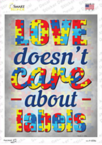 Love Doesnt Care About Labels Wholesale Novelty Rectangle Sticker Decal