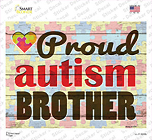 Proud Autism Brother Wholesale Novelty Rectangle Sticker Decal