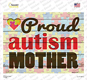 Proud Autism Mother Wholesale Novelty Rectangle Sticker Decal