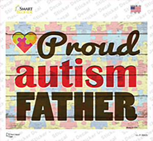 Proud Autism Father Wholesale Novelty Rectangle Sticker Decal